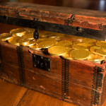 Treasure Chest with Gold Coins
